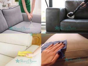 cách làm sạch ghế sofa giả da