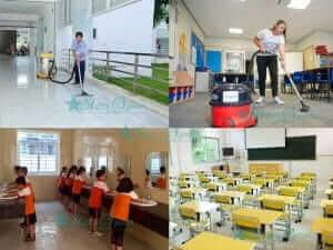 dịch vụ vệ sinh trường học uy tín
