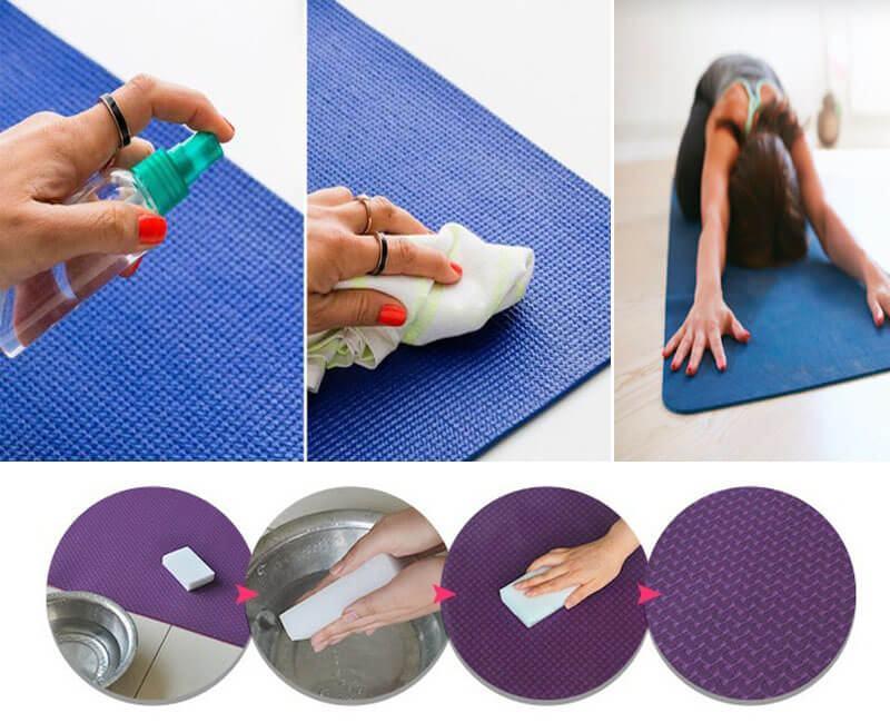 Quy trình vệ sinh thảm yoga bằng nước