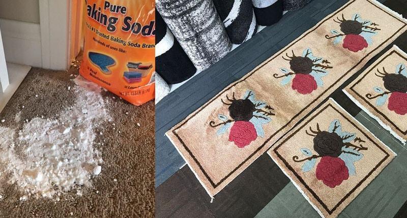 Giặt thảm trùm ghế bằng bột baking soda như thế nào?