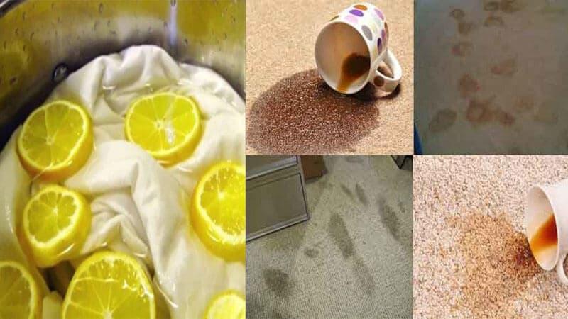 Làm sạch thảm an toàn với nước cốt chanh