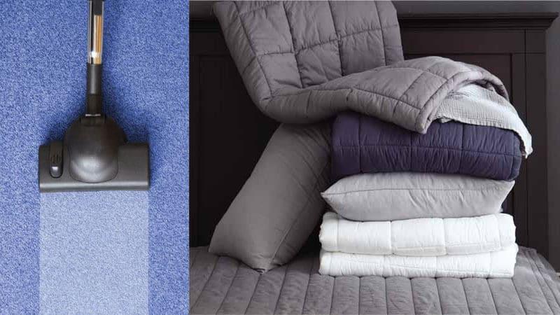 Thảm trải giường và cách vệ sinh hợp lý