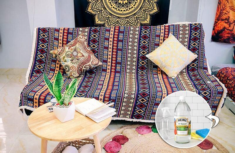Giặt thảm trải ghế hiệu quả bằng giấm