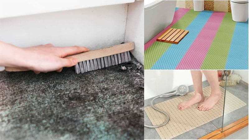 Thảm chống trơn trượt trong nhà vệ sinh