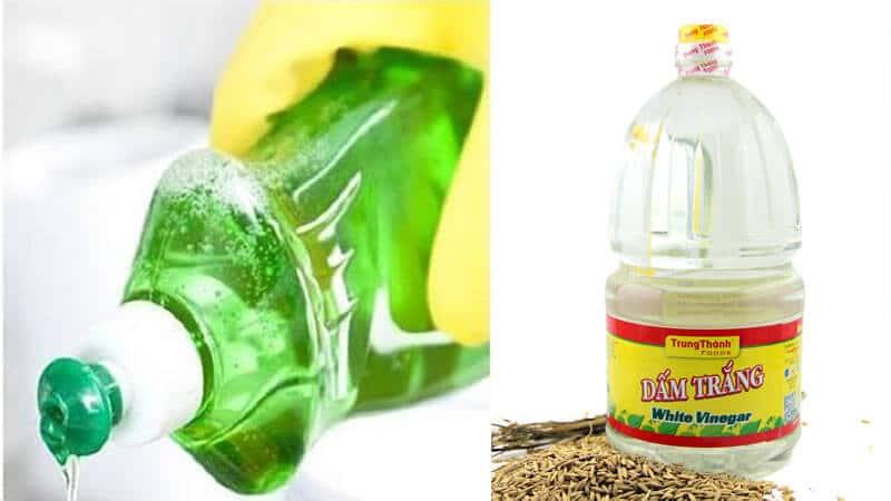 Tận dụng nước rửa bát và giấm trắng để vệ sinh